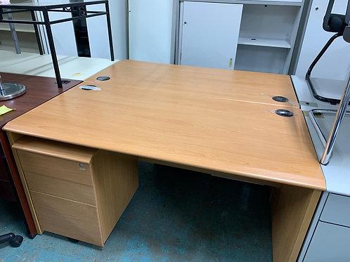 二手辦公桌 連櫃桶