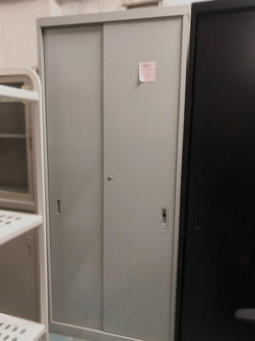 二手灰色五層鋼文件櫃(連鎖匙)