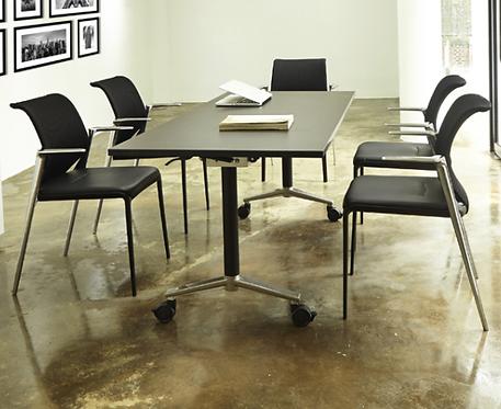 二手摺疊辦公桌 會議桌(淺木紋色/白色)