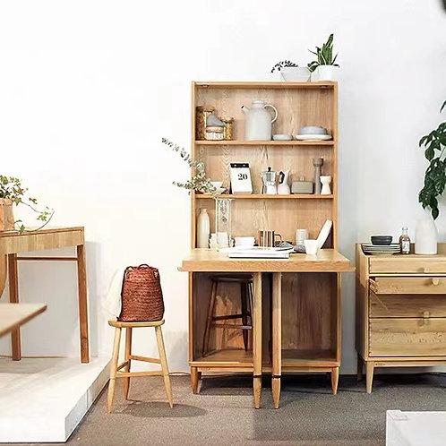 美國白橡木可摺疊桌面櫃