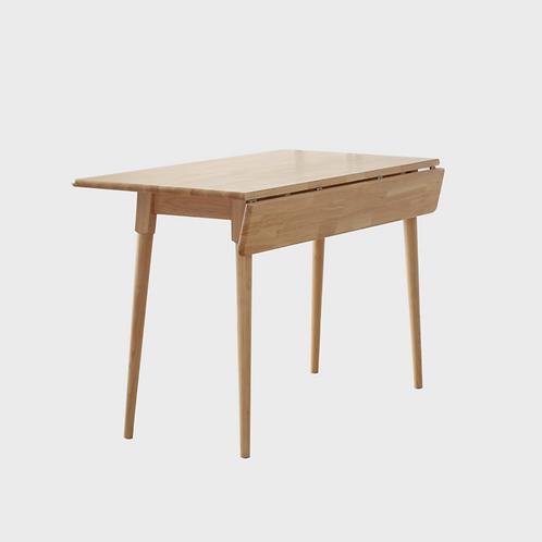 Hem! 雙邊可摺疊 橡膠木餐桌