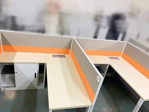 二手L型辦公桌連屏風