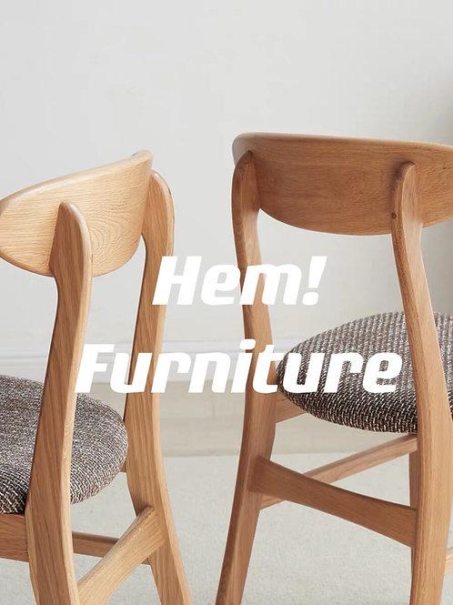 橡膠實木法式麵包椅