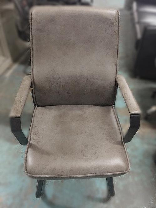 二手灰咖色會議椅