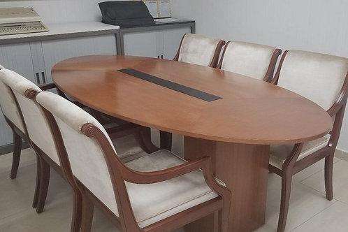 二手實木橢圓會議桌