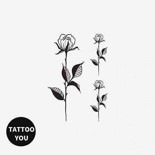 Rose 紋身貼紙