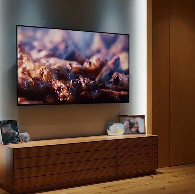 美國白橡木橫紋電視櫃