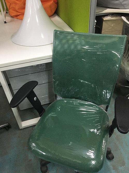 二手可升降墨綠色網椅電腦椅