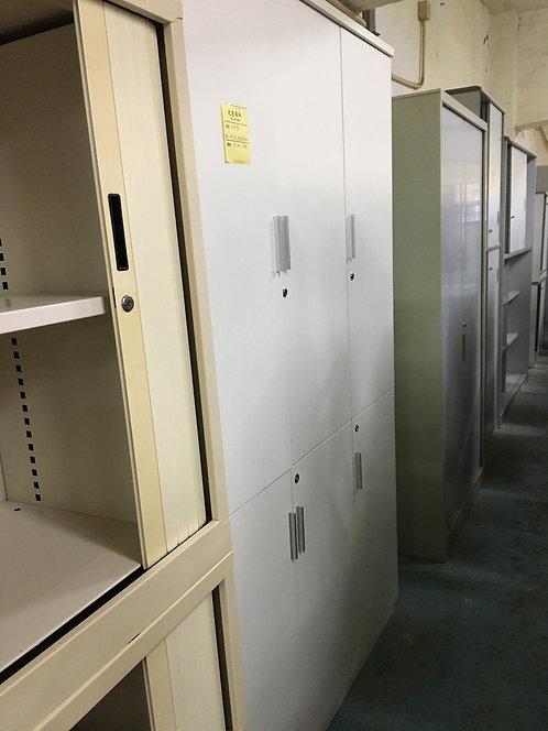 二手白色6門文件櫃