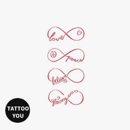 Infinity 紋身貼紙