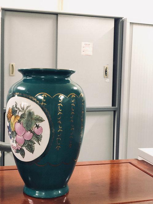 中式青綠色花瓶(已售)