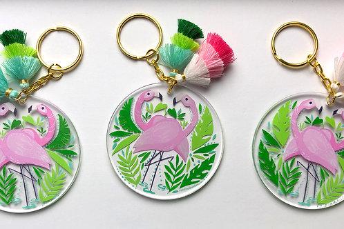 Flamingo Key Chain