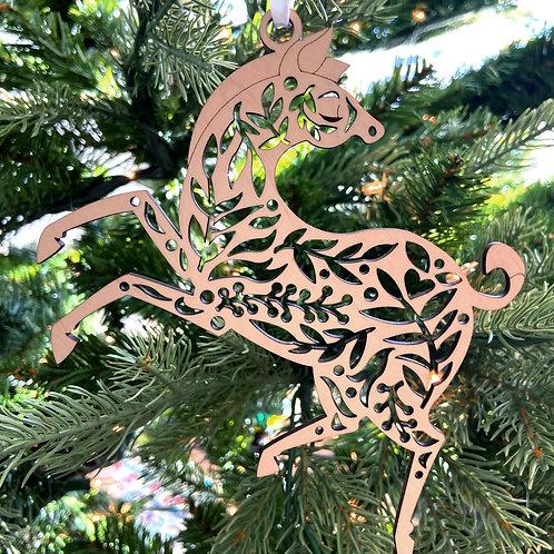 Zebra Wood Ornament
