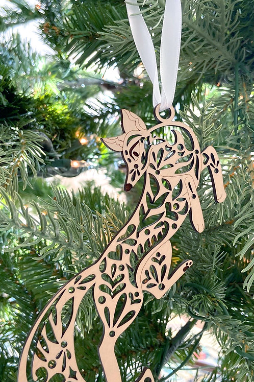Fox Wood Ornament