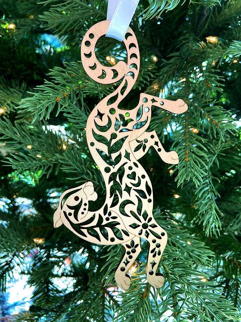 Leopard Wood Ornament