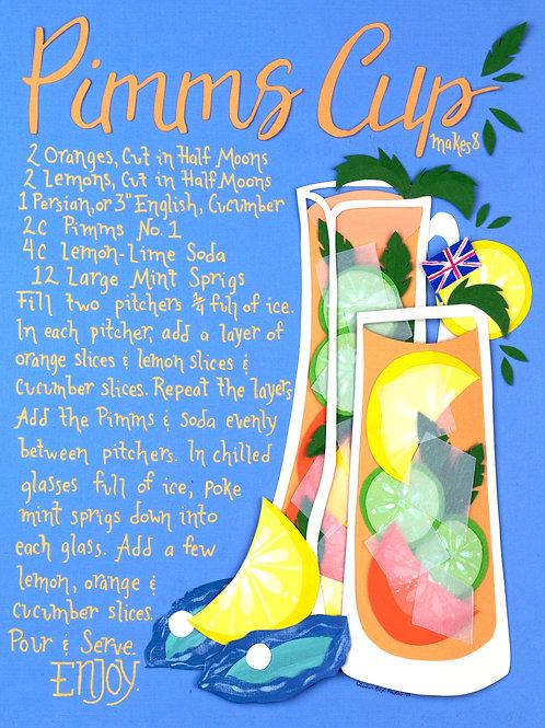 Art Print: Pimms Cup