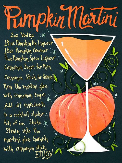 Art Print: Pumpkin Martini