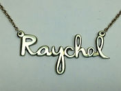 Name necklace-Raychel