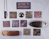 Intro to Etching Sample Board & Samples.