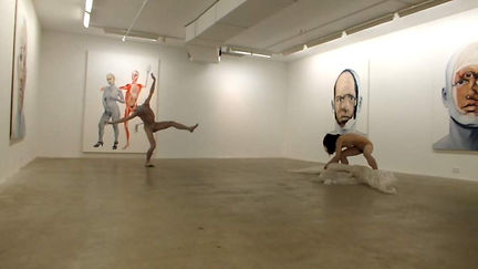 christophe avella bagur, New York with Zatsu and Watanabe butoh dancers
