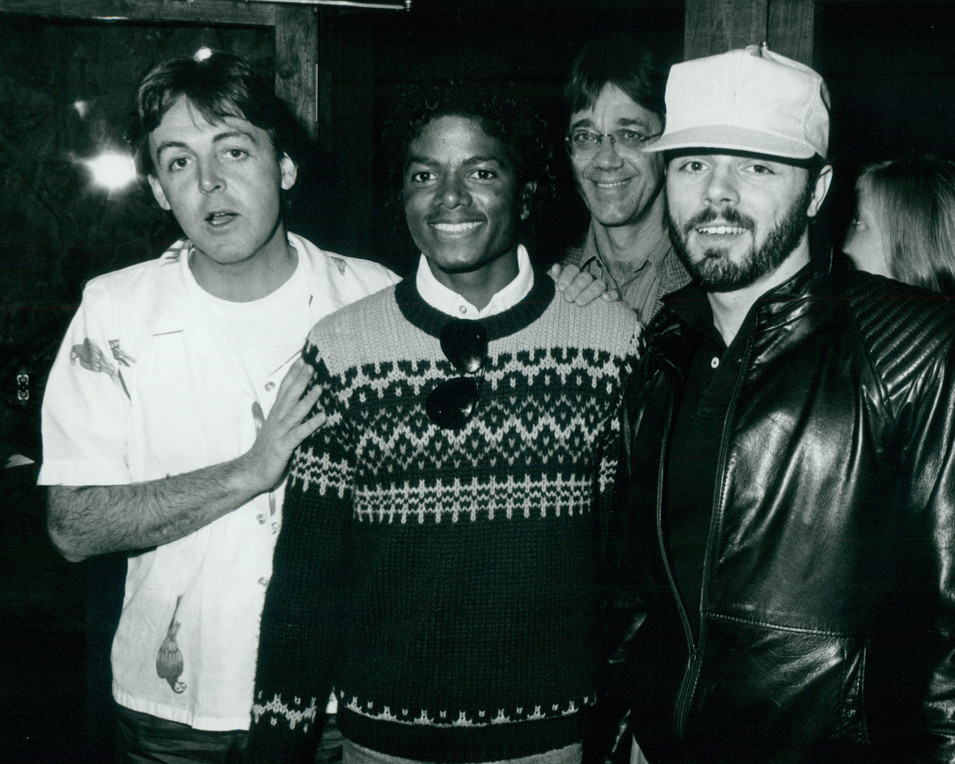 Paul McCartney, Michael Jackson and Peter Brown