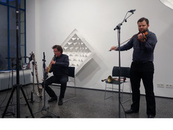 with Udo Schindler at the Galerie Artoxin, Munich 2015