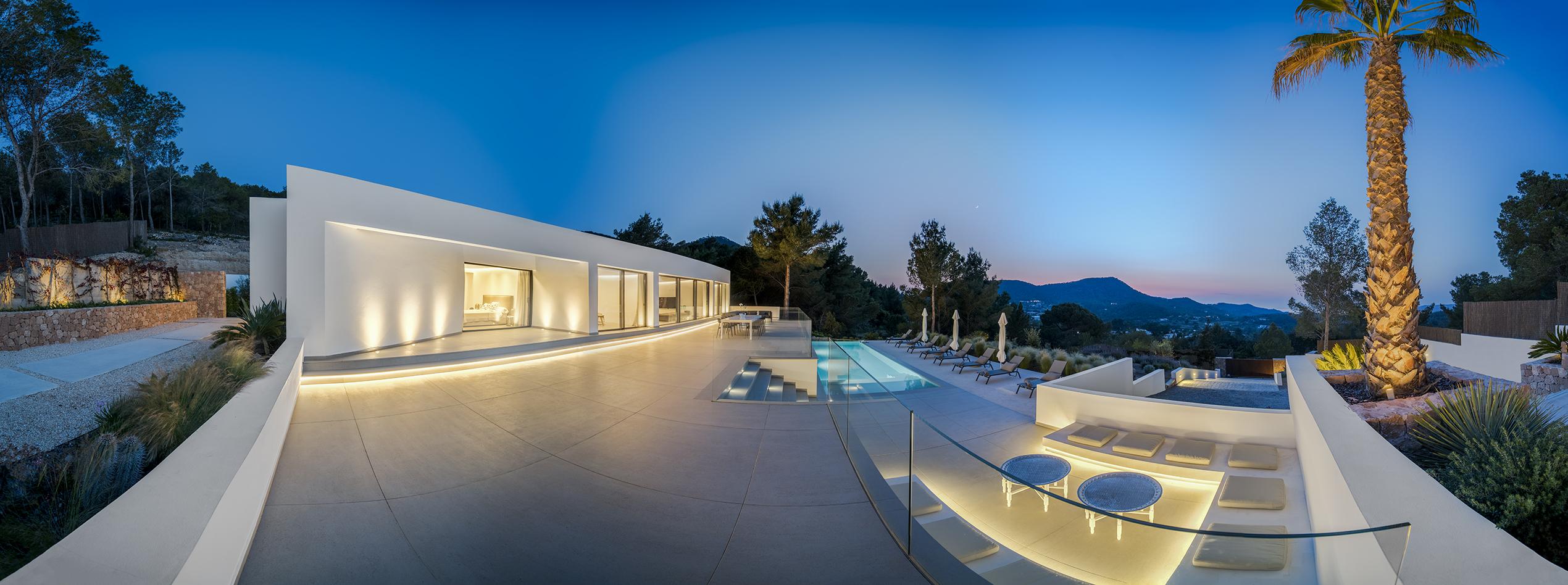 panorama - terrace left night