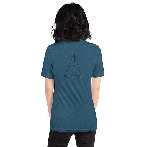 Custom Design Cal Line Drawing Short-Sleeve Unisex T-Shirt