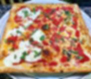 Half Margarita, half Grandma pizza 🤤.jp