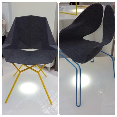 כסאות פיסוליים בתערוכה בלונדון צילום ועריכה: רויטל רודצקי עיצוב פנים והום סטיילינג