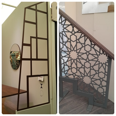 חיתוכי לייזר במתכות תערוכת העיצוב בלונדון צילום ועריכה: רויטל רודצקי עיצוב פנים והום סטיילינג