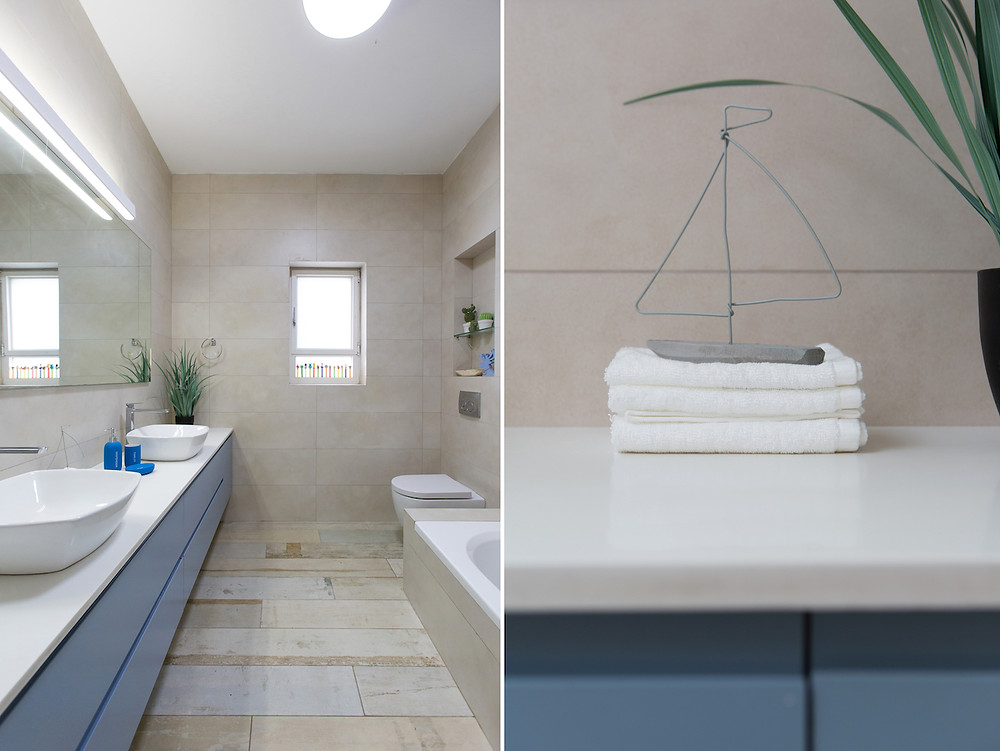 חדר אמבטיה עיצוב וסטיילינג רויטל רודצקי
