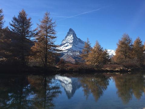 Foto von Grindjsee und Matterhorn
