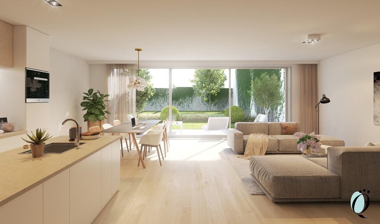 Gelijkvloers appartement met zonneterras en tuin