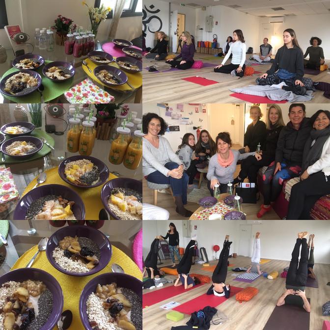 Workshop yoga breakfast time