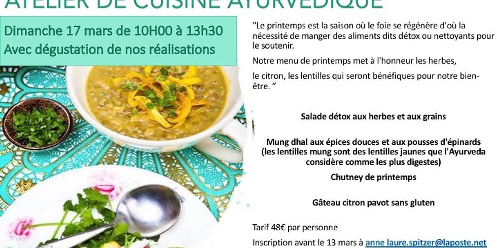 Atelier de cuisine Ayurvédique et dégustation