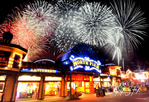 The World Firework Championships, Blackpool North Pier.  Picture Copyright Martin Bostock Photography.