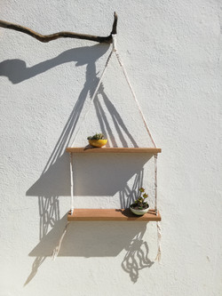 Macrame shelf hanging