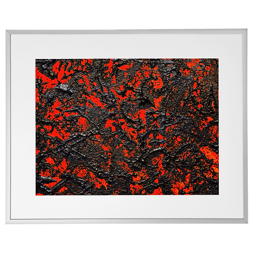 '1' 40cm x 50cm Framed Acrylic on Canvas Board
