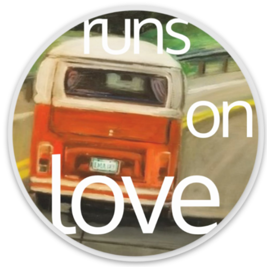 Runs on Love VW sticker