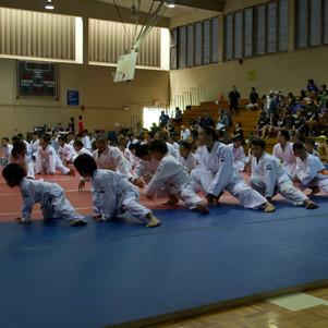 Mililani Y Judo Competitors in foreground