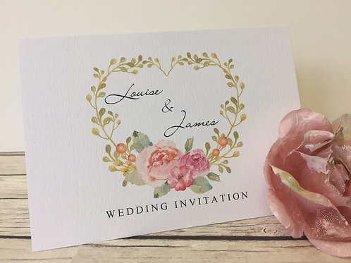 Floral Bouquet Concertina Wedding Invitation