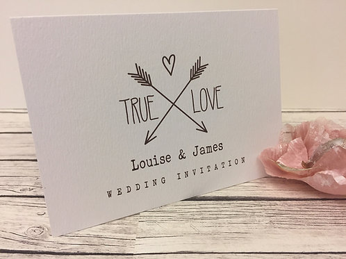 True Love Concertina Wedding Invitation