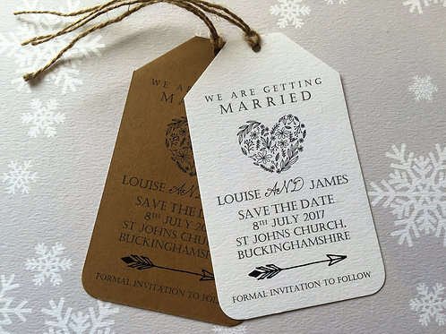 Rustic Heart Save The Dates