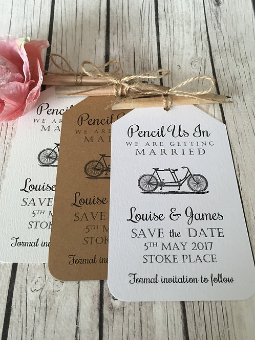 Vintage Bicycle Pencil Us In Save The Dates