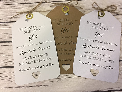 Engagement Ring Save The Dates