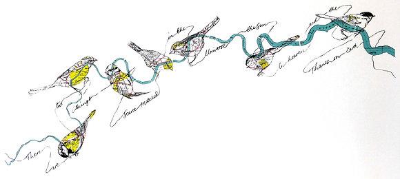 """""""River III"""" Screen Print by Julia McKenzie"""