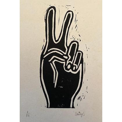 """""""Peace"""" Linocut Print by Daisy Oakley"""