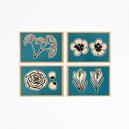 Flower Recipe Notecard Pack (x4)