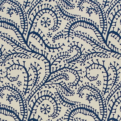Gift Wrap - Seaweed Paisley Prussian Blue